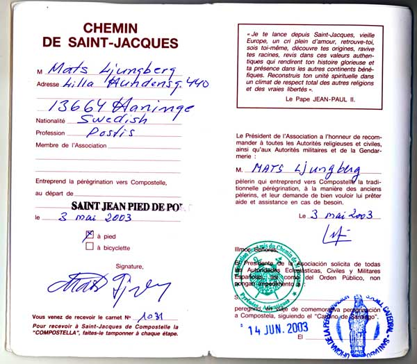 Var pilgrimsvandring 1 - Biarritz to st jean pied de port transport ...